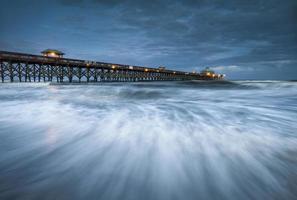 luz de la luna locura playa muelle charleston sc costa este océano atlántico