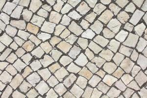 Limestone cobble texture photo