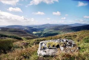 Beautiful Irish landscape in the Wicklow mountains.