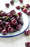 sweet cherry on a plate