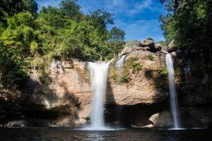 paisaje de caída de agua en tailandia