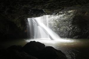 Natural Bridge waterfall.