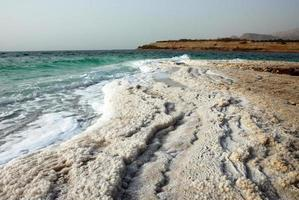 Salt at the shore of the Dead Sea