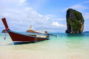 Thai Ship in the beautiful sea destination