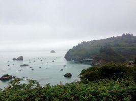 Foggy California Bay photo