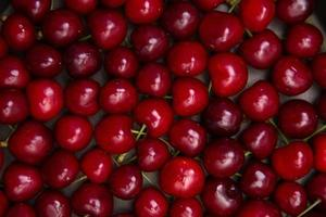 Red cherry texture photo
