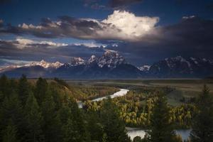 Clouds over the Grand Tetons
