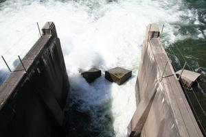 Hydro electric dam release of water