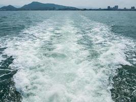 Wave from ship.