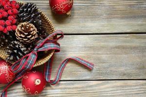 decoración navideña con cinta