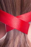 Ribbon in a hair