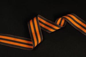 Vintage orange and black ribbon. photo