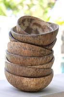 Closeup coconut shell texture