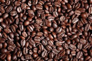 Arabica coffee beans texture