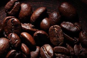 textura de granos de café arábica foto