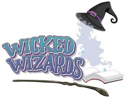 Wicked wizards on white background