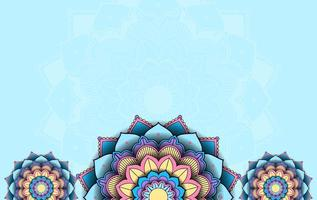 Background with mandala pattern design vector