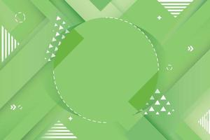 Green Geometric Abstract Element with Triangle Accent  vector