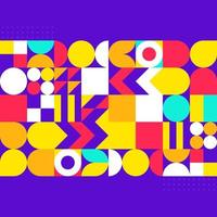 Colourful modern abstract geometric background design vector