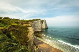 Cliffs at Etretat in Normandy, France