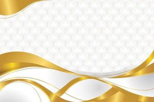 Gold Ribbon Background with Pattern vector