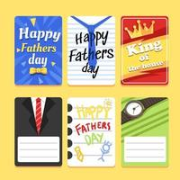 Creative Colorful Card For Fathers Day vector