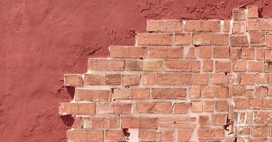 textura de pared de ladrillo naranja foto