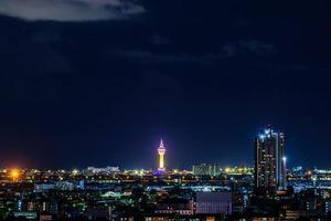 Night cityscape in Thailand
