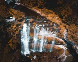 Aerial photography of waterfalls photo