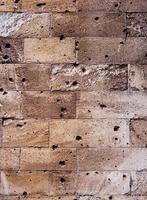 Brick wall degraded