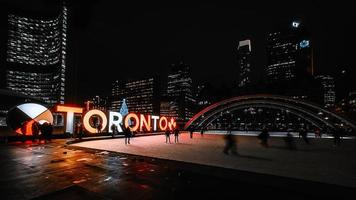 Toronto sign at Nathan Phillips Square