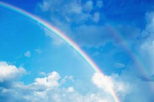 Beautiful rainbows born naturally after rain