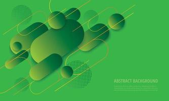Modern green gradient rounded geometric design vector
