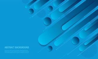 Modern blue gradient angled geometric design vector