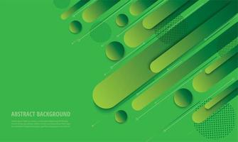 Modern green gradient angled geometric design vector