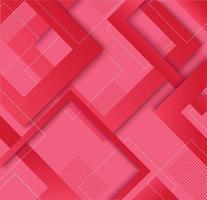 Modern red pink gradient trendy geometric design vector