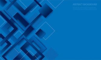 Modern blue diamond gradient trendy design vector