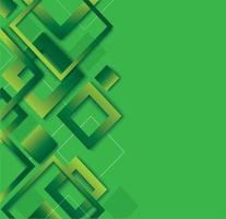 Modern green diamond gradient trendy design vector
