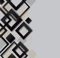 Modern black, gray, gold diamond gradient trendy design vector