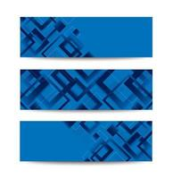 Modern blue diamond gradient trendy banner set vector