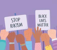 Black lives matter and stop racism awareness campaign