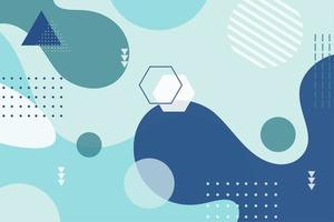 forma geométrica abstracta fondo azul vector