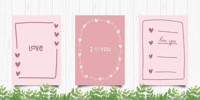 Set of Cute Romantic Cards
