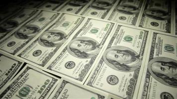 mesa de dinheiro. close-up, foto do controle deslizante. video