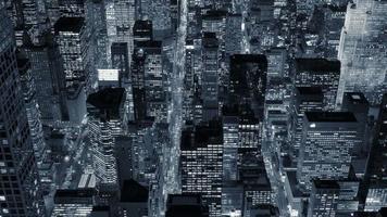 edifícios do horizonte do distrito financeiro financeiro à noite