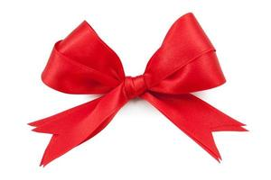 Red ribbon double bow