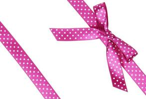 Two pink ribbons with bow