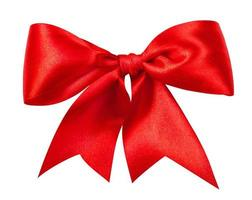 Red gift bow photo