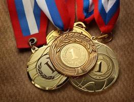 Metal medals photo