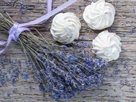Bouquet of dry lavender photo